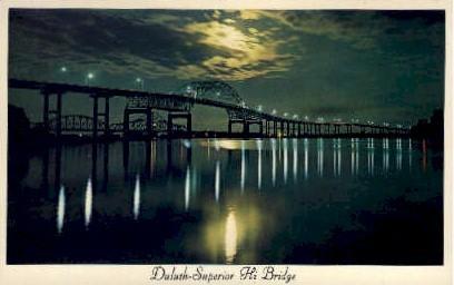 Duluth-Superior High Bridge - Minnesota MN Postcard
