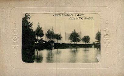 Boulevard Lake - Duluth, Minnesota MN Postcard