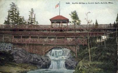 Rustic Bridge, Lester Park - Duluth, Minnesota MN Postcard