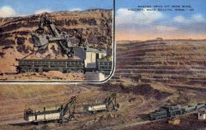 Mesaba Open Pit Iron Mine - Duluth, Minnesota MN Postcard
