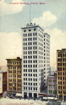 Alworth Building - Duluth, Minnesota MN Postcard