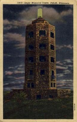 Enger Memorial Tower - Duluth, Minnesota MN Postcard