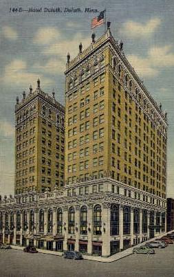 Hotel Duluth - Minnesota MN Postcard