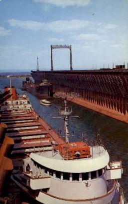 Loading Iron Ore - Duluth, Minnesota MN Postcard