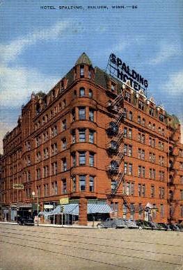 Hotel Spalding - Duluth, Minnesota MN Postcard