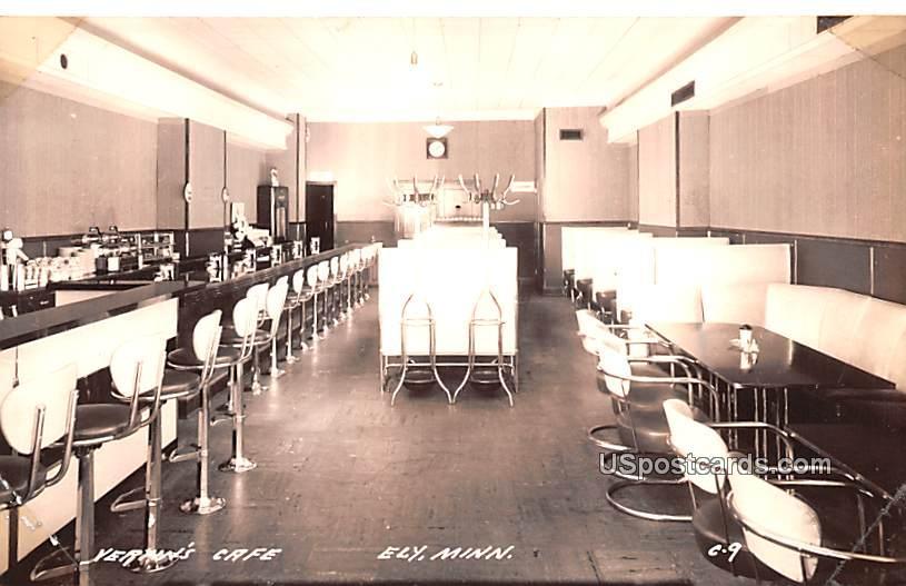 Vertin's Caf» - Ely, Minnesota MN Postcard