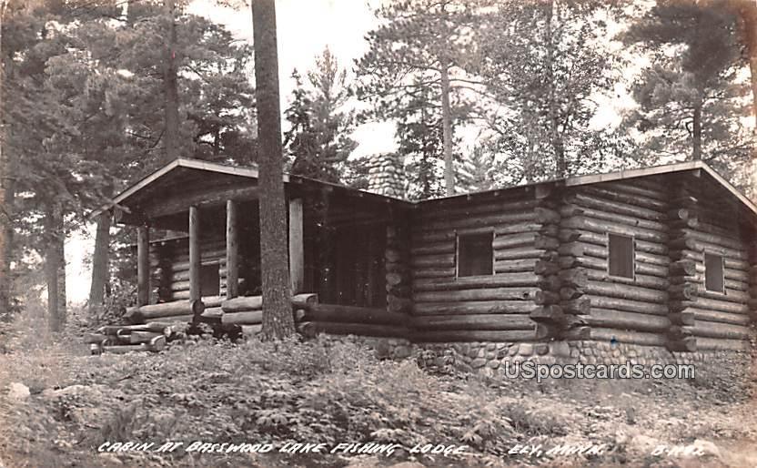 Cabin at Basswood Lake Fishing Lodge - Ely, Minnesota MN Postcard