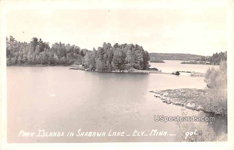 Park Islands in Shabawa Lake - Ely, Minnesota MN Postcard
