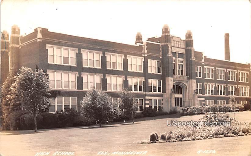 High School - Ely, Minnesota MN Postcard