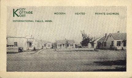 Kozy Kottage Kort - International Falls, Minnesota MN Postcard