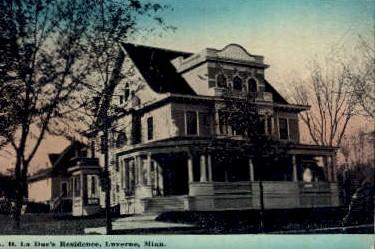 A. D. La Due's Residence - Luverne, Minnesota MN Postcard