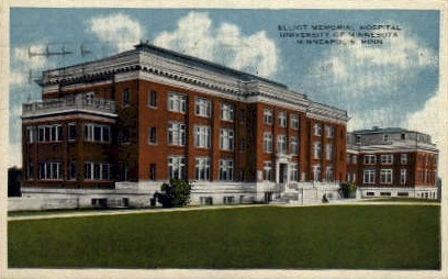 Elliot Memorial Hospital - Minneapolis, Minnesota MN Postcard