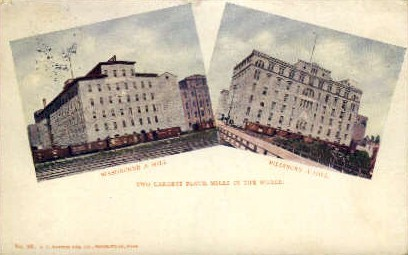 Two Largest Flour Mills in the World - Minneapolis, Minnesota MN Postcard