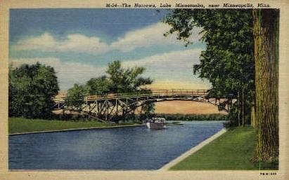 The Narrows, Lake Minnetonka - Minneapolis, Minnesota MN Postcard