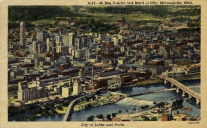 City of Lakes and Parks - Minneapolis, Minnesota MN Postcard
