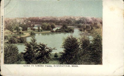 Lake in Loring Park - Minneapolis, Minnesota MN Postcard