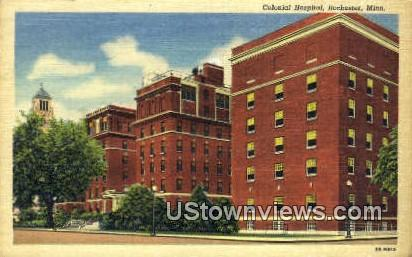 Colonial Hospital - Rochester, Minnesota MN Postcard