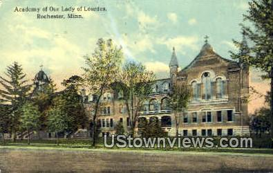 Academy of Our Lady of Lourdes - Rochester, Minnesota MN Postcard