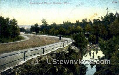 Boulevard Drive - Duluth, Minnesota MN Postcard