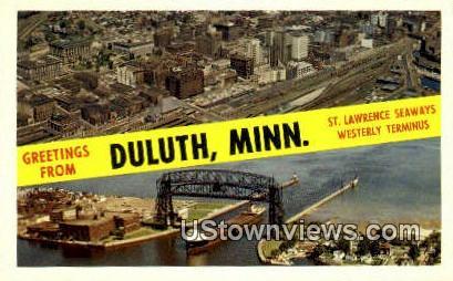 St. Lawrence Seaways - Duluth, Minnesota MN Postcard