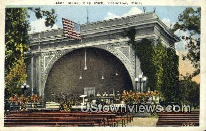 Band Stand, City Park - Rochester, Minnesota MN Postcard