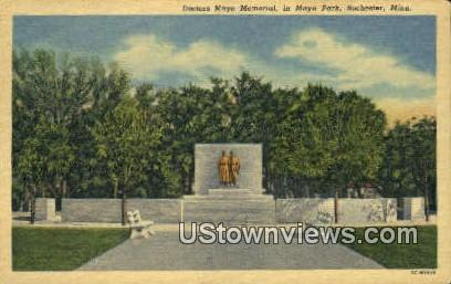Doctors Mayo Memorial, Mayo Park - Rochester, Minnesota MN Postcard