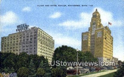 Clinic & Hotel Kahler - Rochester, Minnesota MN Postcard