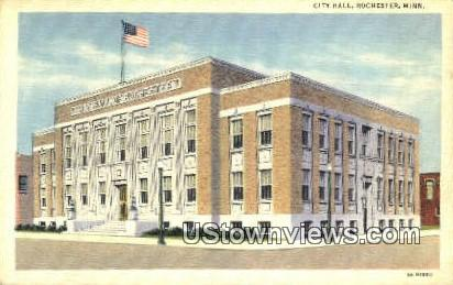 City Hall - Rochester, Minnesota MN Postcard