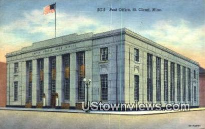 Post Office - St. Cloud, Minnesota MN Postcard