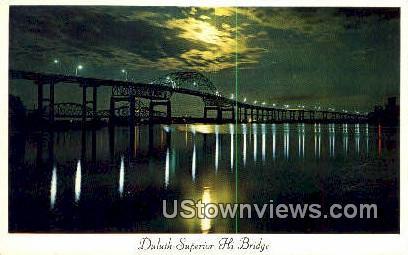 Duluth-Superior Hi Bridge - Minnesota MN Postcard
