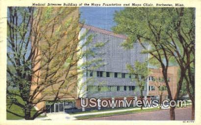 Medical Sciences Bldg, Mayo Clinic - Rochester, Minnesota MN Postcard