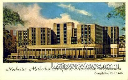 Rochester Methodist Hospital - Minnesota MN Postcard