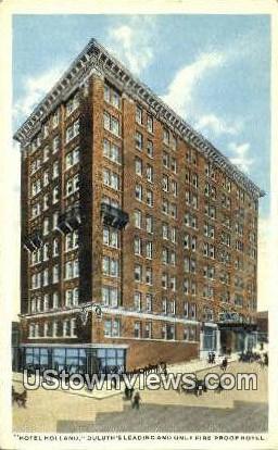 Hotel Holland - Duluth, Minnesota MN Postcard