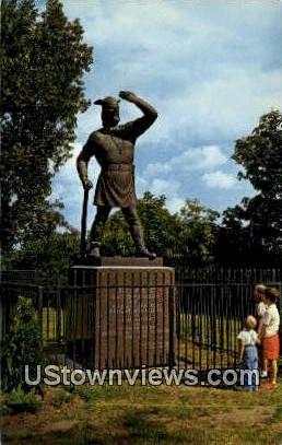 Statue of Leif Erikson - Duluth, Minnesota MN Postcard