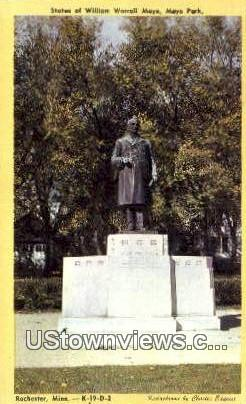 Statue of William Worrall Mayo - Rochester, Minnesota MN Postcard