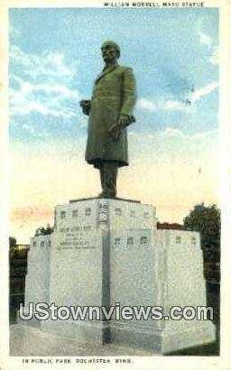 William Worrell mayo Statue - Rochester, Minnesota MN Postcard