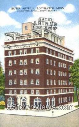 Hotel Arthur - Rochester, Minnesota MN Postcard