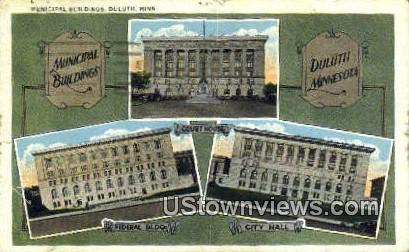 Municipal Bldg - Duluth, Minnesota MN Postcard