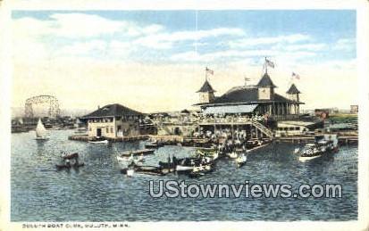 Duluth Boat Club - Minnesota MN Postcard