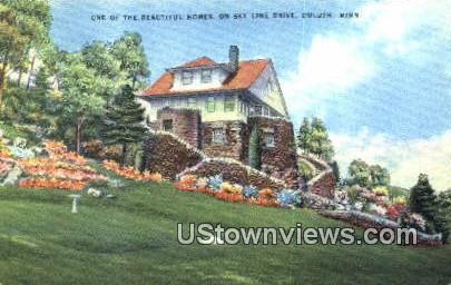 Sky Line Drive - Duluth, Minnesota MN Postcard
