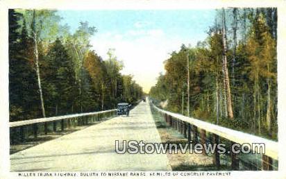 Miller Trunk Highway - Duluth, Minnesota MN Postcard