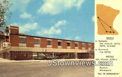Kahler's Inn Towne Motel - Rochester, Minnesota MN Postcard