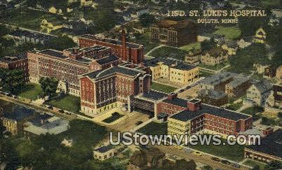 St. Luke's Hospital - Duluth, Minnesota MN Postcard