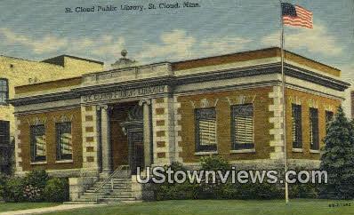 St. Cloud Public Library - Minnesota MN Postcard