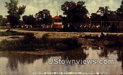 Zumbro River, Mayo Park - Rochester, Minnesota MN Postcard