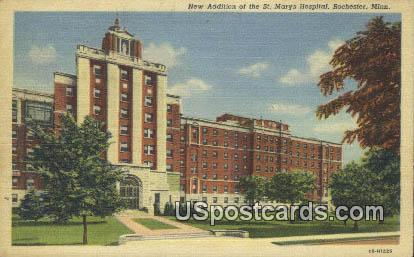 New Addition, St Marhy's Hospital - Rochester, Minnesota MN Postcard
