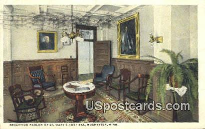 Reception Parlor, St Mary's Hospital - Rochester, Minnesota MN Postcard