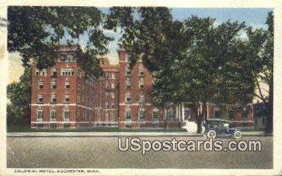 Colonial Hotel - Rochester, Minnesota MN Postcard