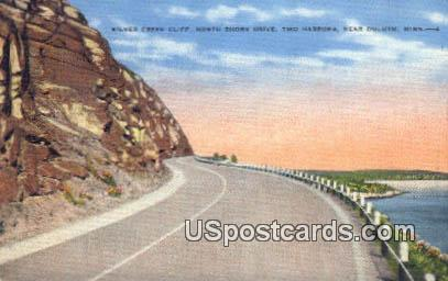 Silver Creek Cliff - Duluth, Minnesota MN Postcard