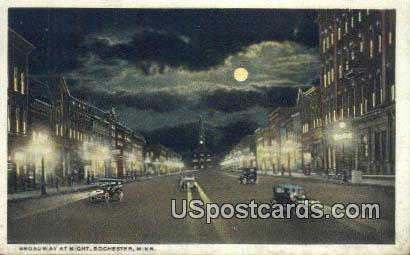 Broadway - Rochester, Minnesota MN Postcard
